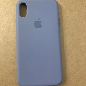 iPhone XS silicons case- Lavender